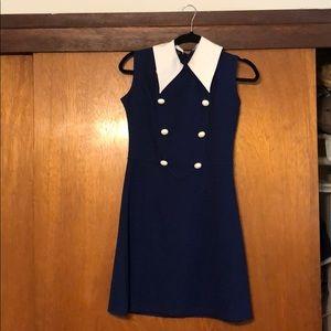 ASOS/POP Blue Sailor Dress w/ Buttons and Collar